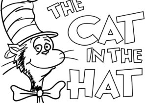 The Cat In The Hat Coloring Pages Coloring4free Com