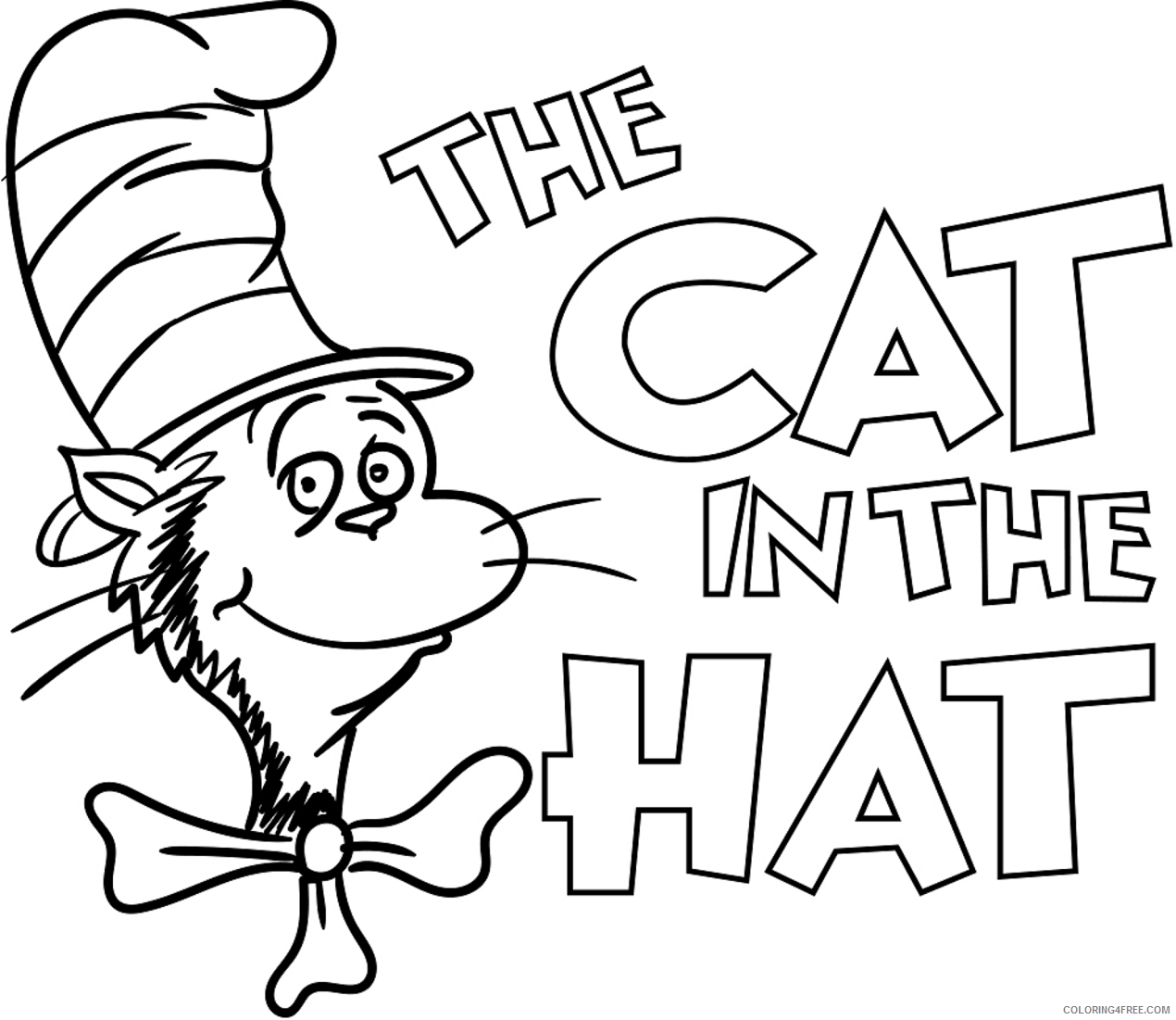 The Cat in the Hat Coloring Pages Cartoons ...