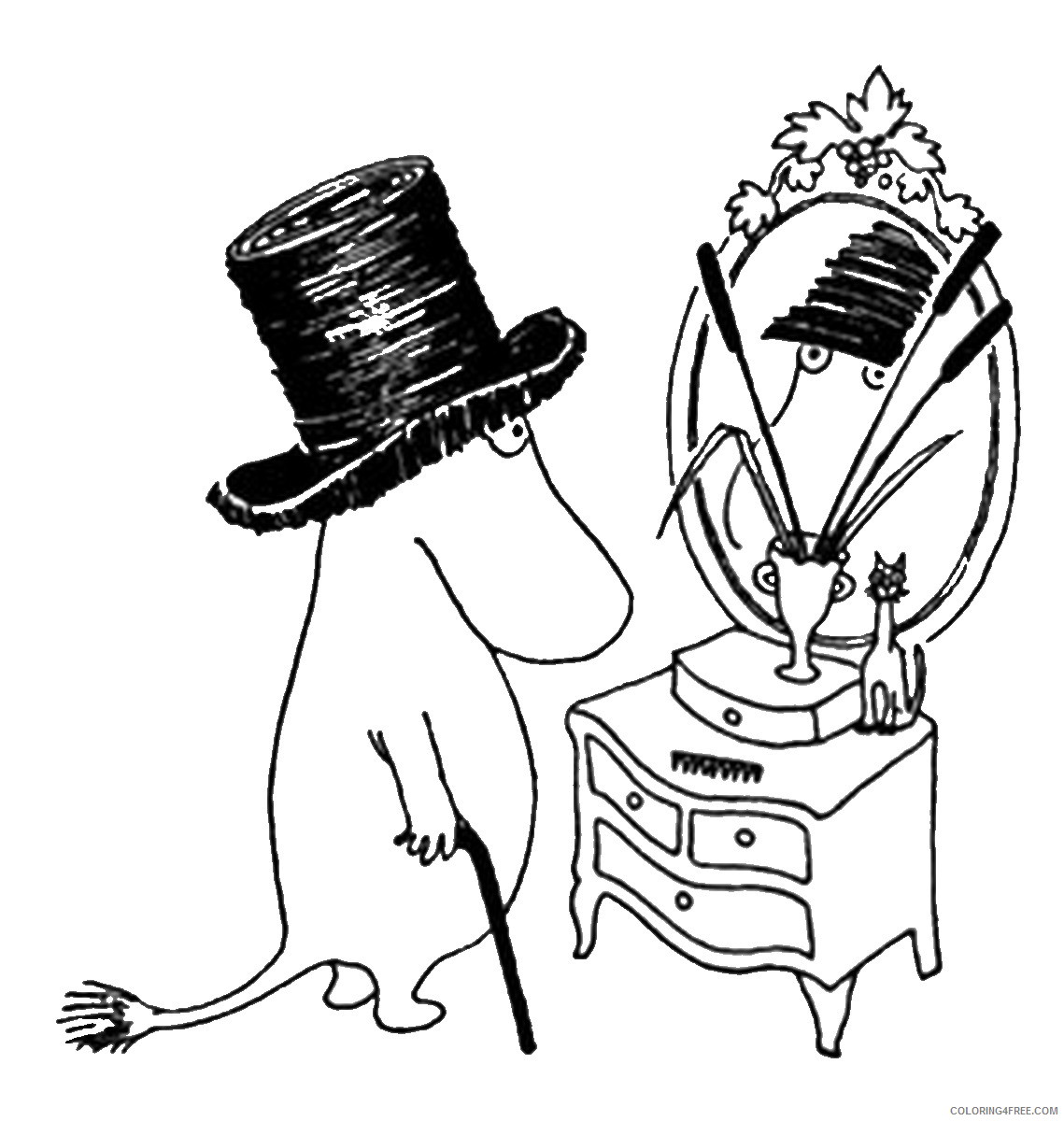 The Moomins Coloring Pages Cartoons moomins_cl_02 Printable 2020 6486 Coloring4free