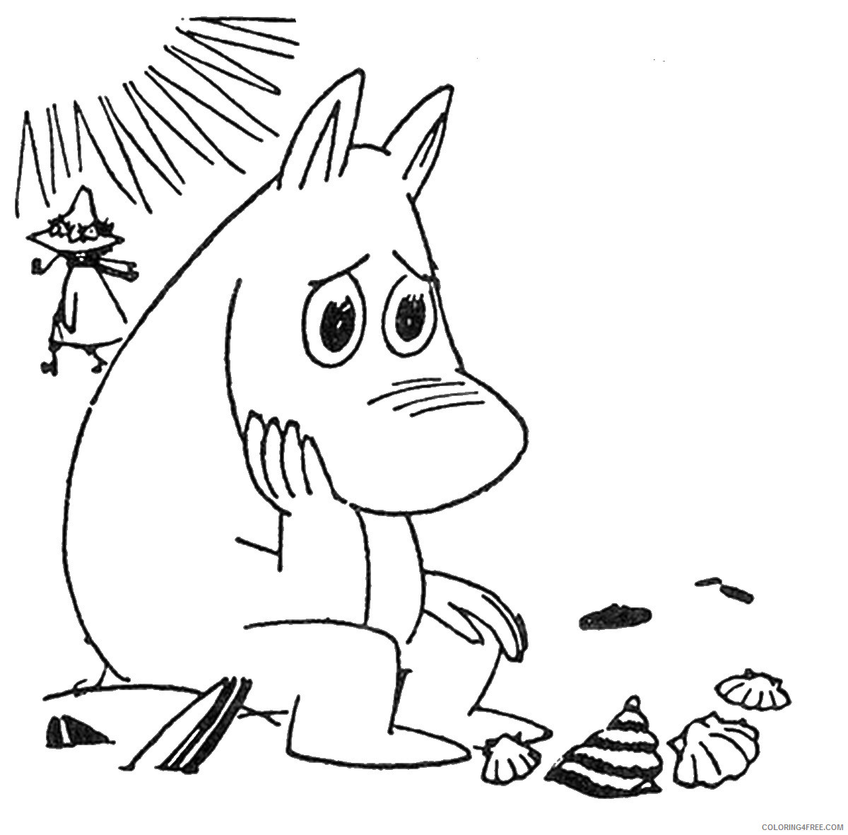 The Moomins Coloring Pages Cartoons moomins_cl_03 Printable 2020 6487 Coloring4free