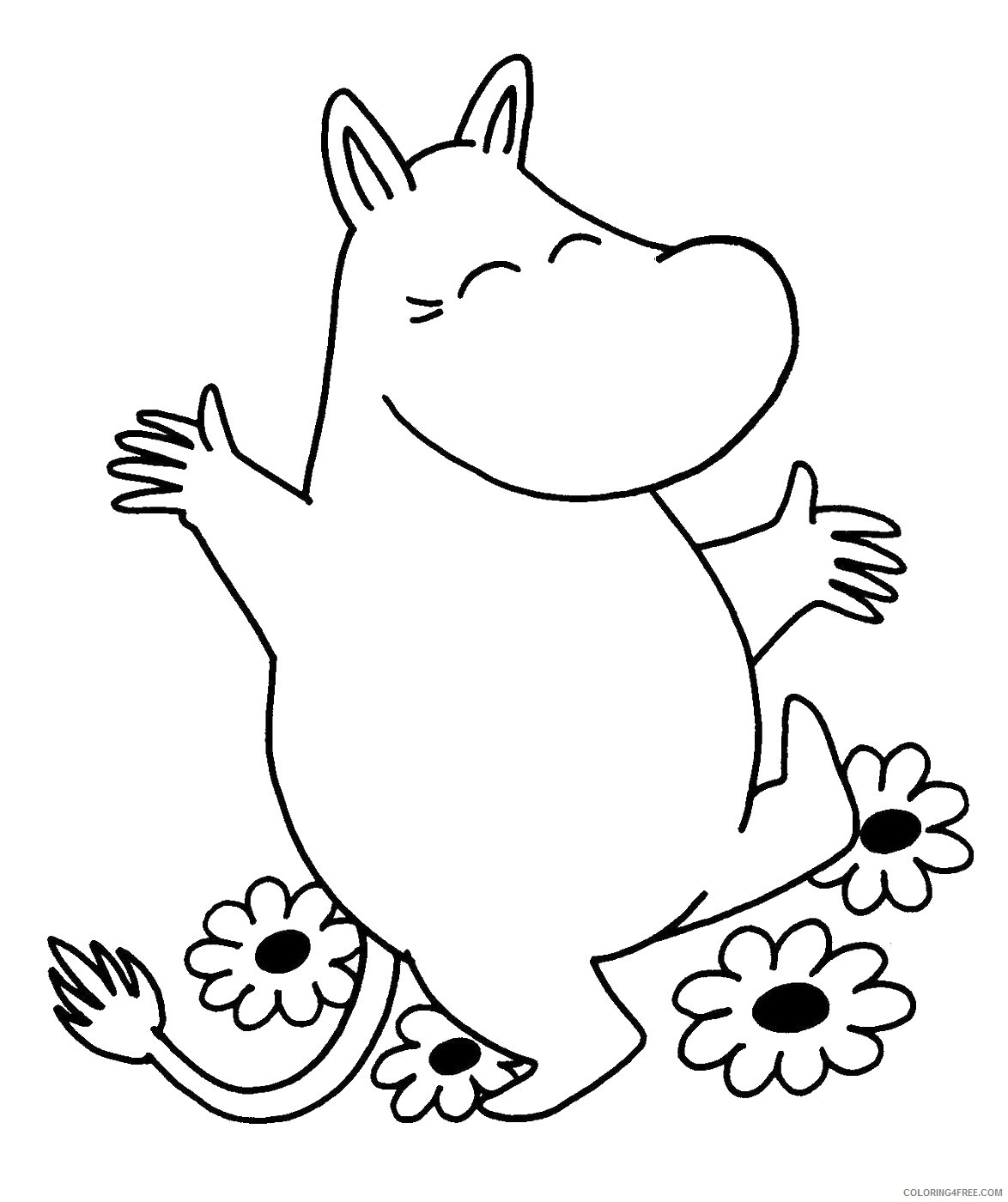 The Moomins Coloring Pages Cartoons moomins_cl_09 Printable 2020 6489 Coloring4free