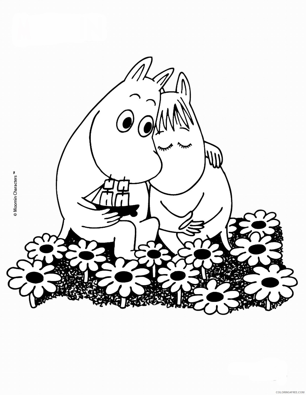 The Moomins Coloring Pages Cartoons moomins_cl_11 Printable 2020 6491 Coloring4free