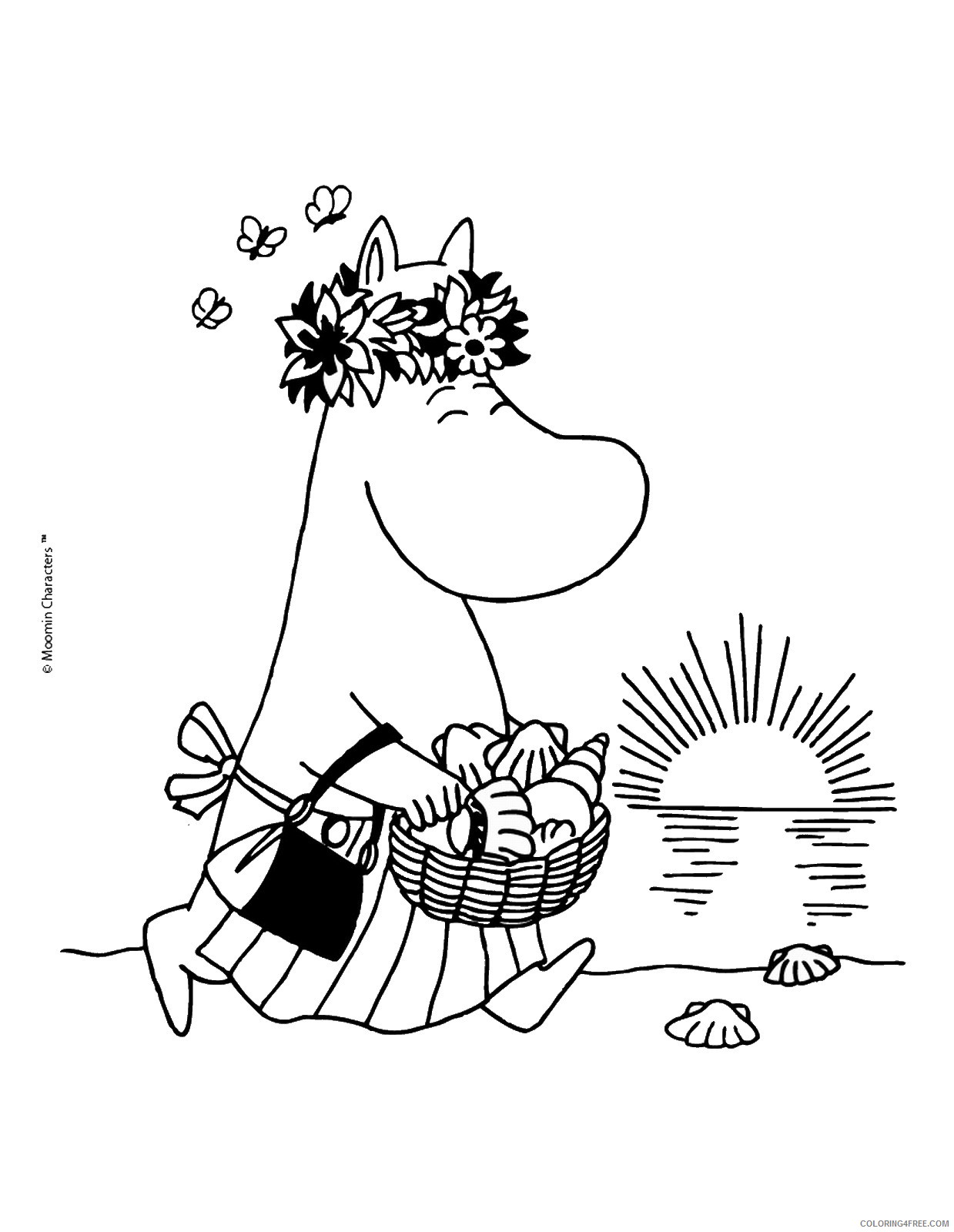 The Moomins Coloring Pages Cartoons moomins_cl_12 Printable 2020 6492 Coloring4free