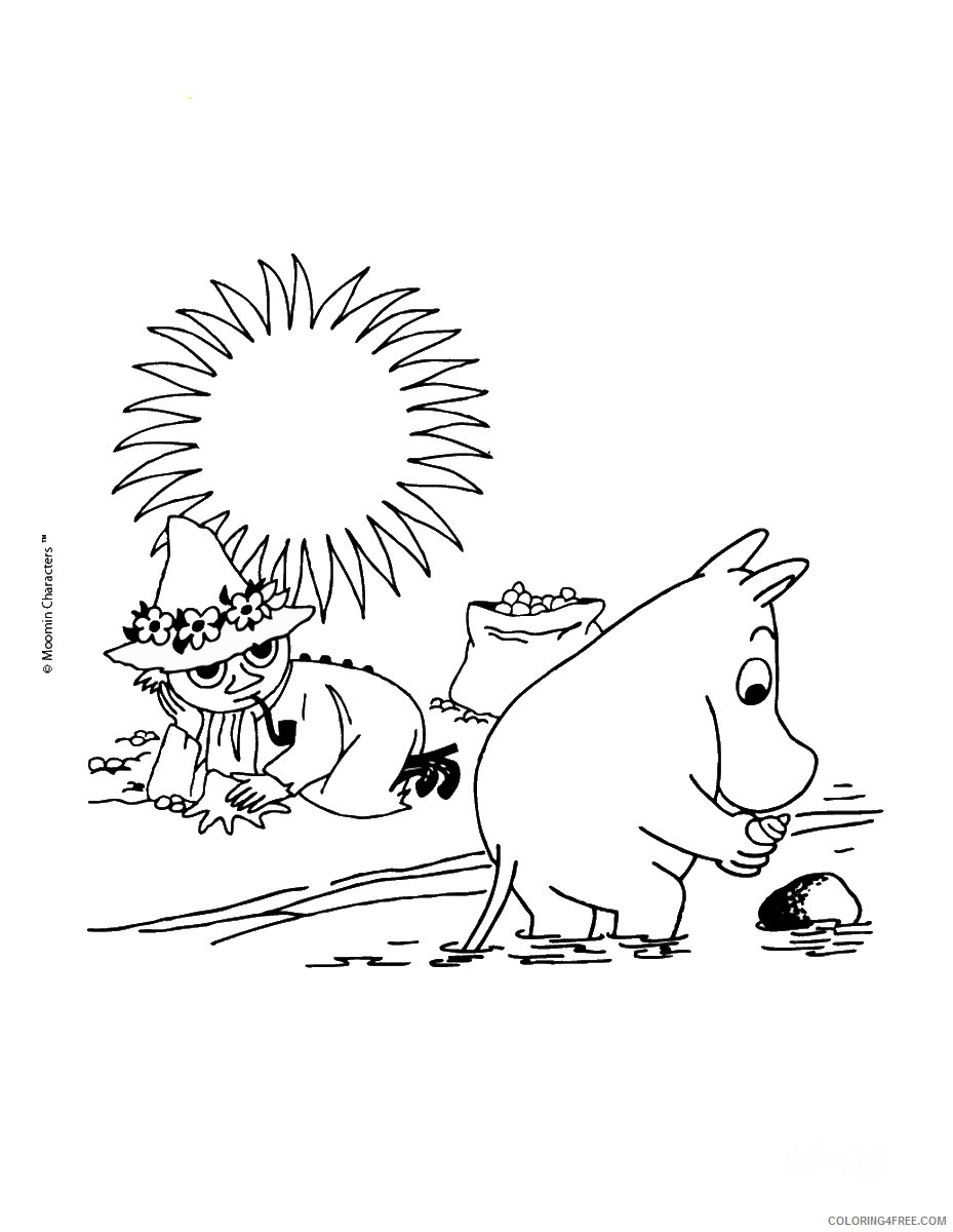 The Moomins Coloring Pages Cartoons moomins_cl_13 Printable 2020 6493 Coloring4free