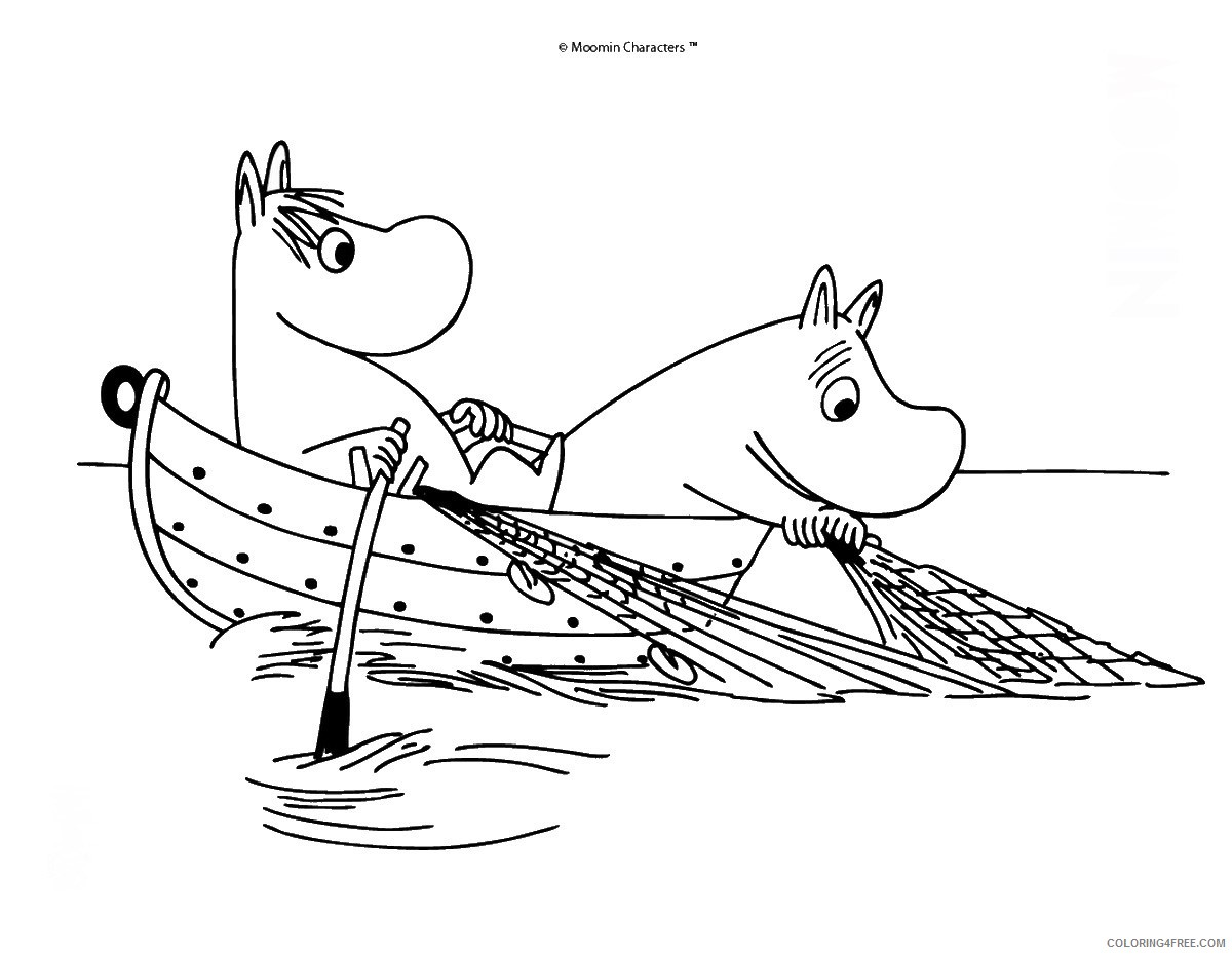 The Moomins Coloring Pages Cartoons moomins_cl_14 Printable 2020 6494 Coloring4free