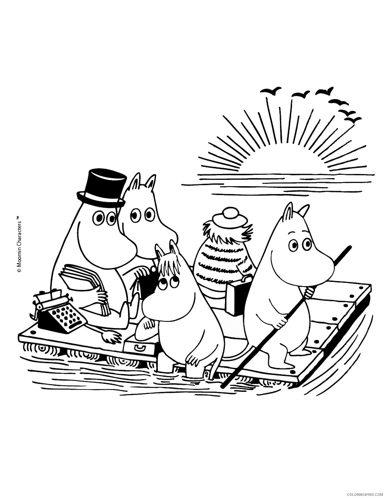 The Moomins Coloring Pages Cartoons moomins_cl_15 Printable 2020 6495 Coloring4free