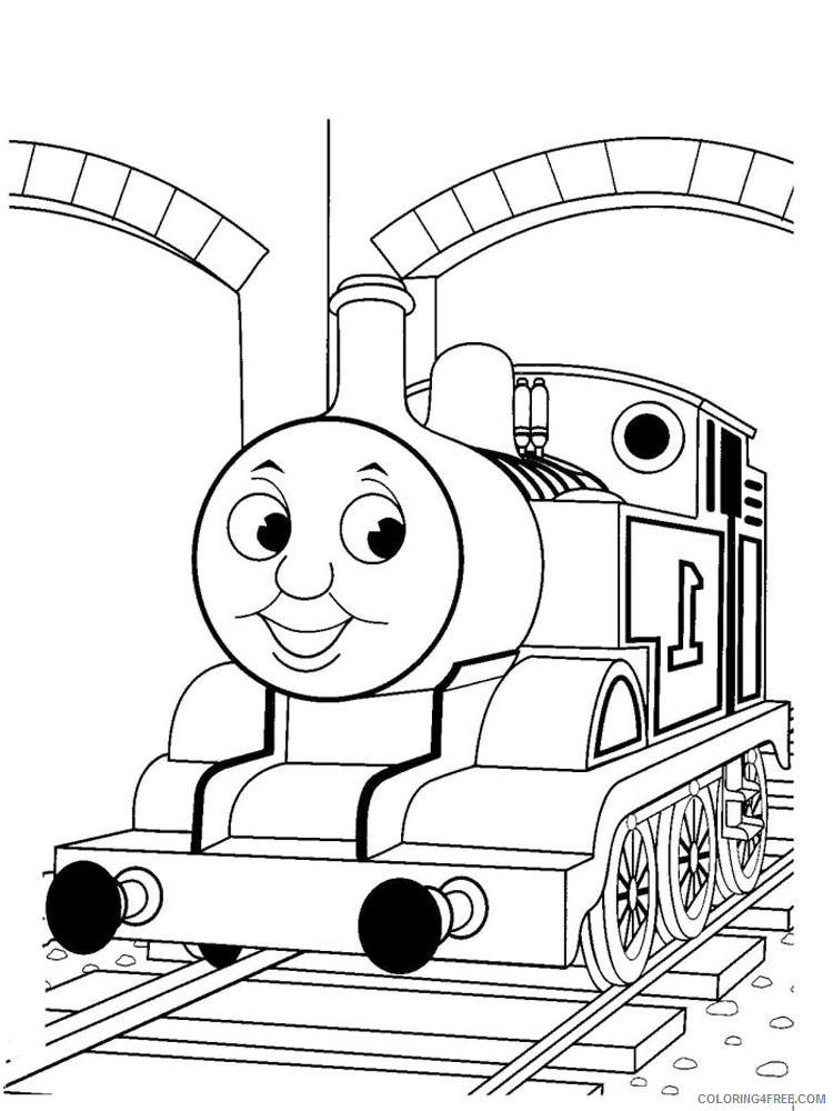 Thomas And Friends Coloring Pages Cartoons Thomas The Train 11 Printable  2020 6555 Coloring4free - Coloring4Free.com