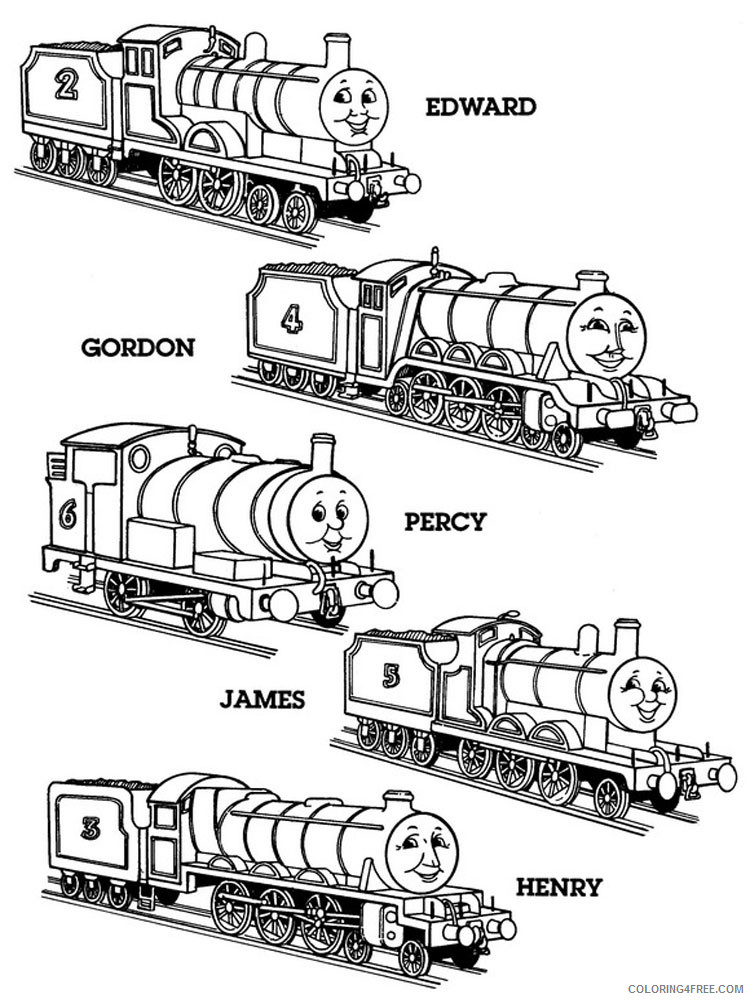 - Thomas And Friends Coloring Pages Cartoons Thomas The Train 8 Printable  2020 6560 Coloring4free - Coloring4Free.com