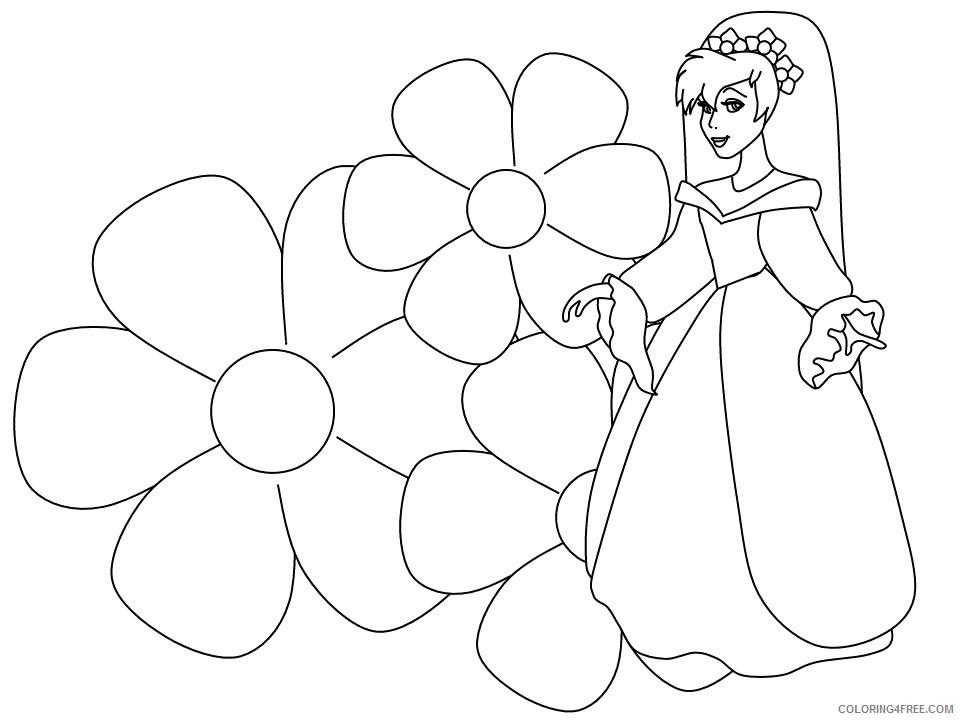 Thumbelina Coloring Pages Cartoons 3 Printable 2020 6587 Coloring4free Coloring4free Com