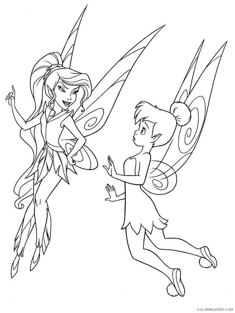 Tinker Bell Coloring Pages Cartoons Tinkerbell 8 Printable 2020 6672  Coloring4free - Coloring4Free.com