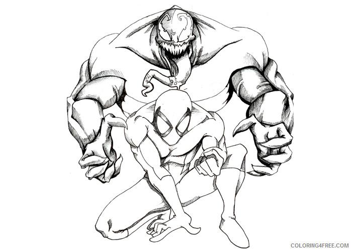 Venom Coloring Pages Cartoons Venom 2 Printable 2020 6873 Coloring4free Coloring4free Com