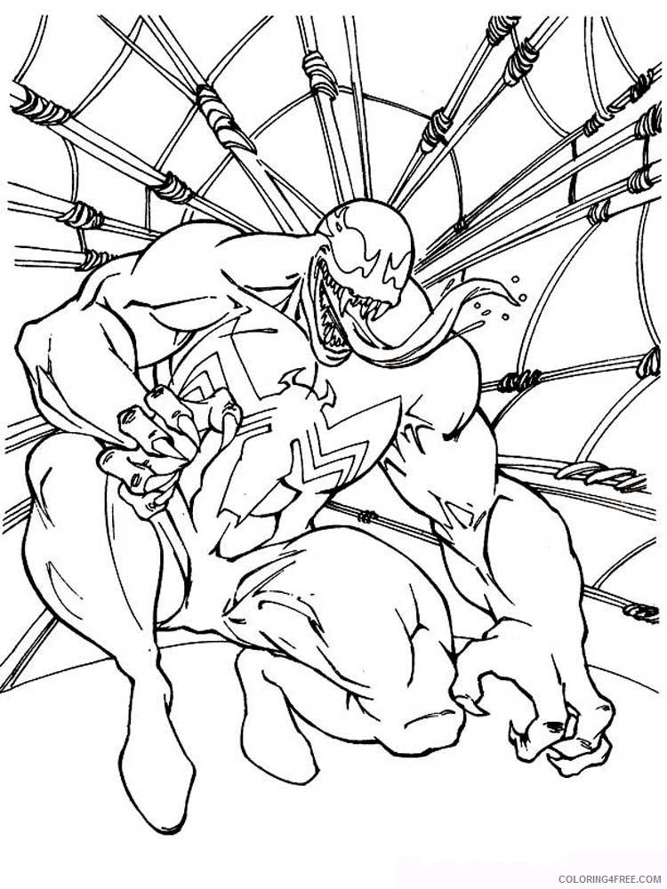Venom Coloring Pages Cartoons Venom 6 Printable 2020 6880 Coloring4free Coloring4free Com