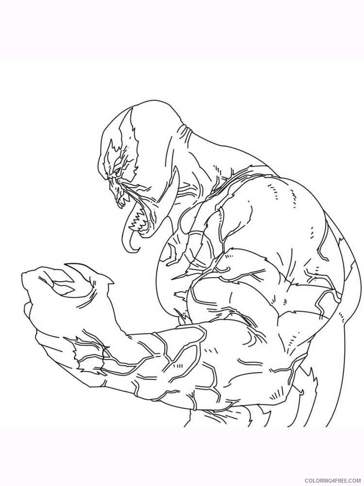 Venom Coloring Pages Cartoons Venom 8 Printable 2020 6882 Coloring4free Coloring4free Com