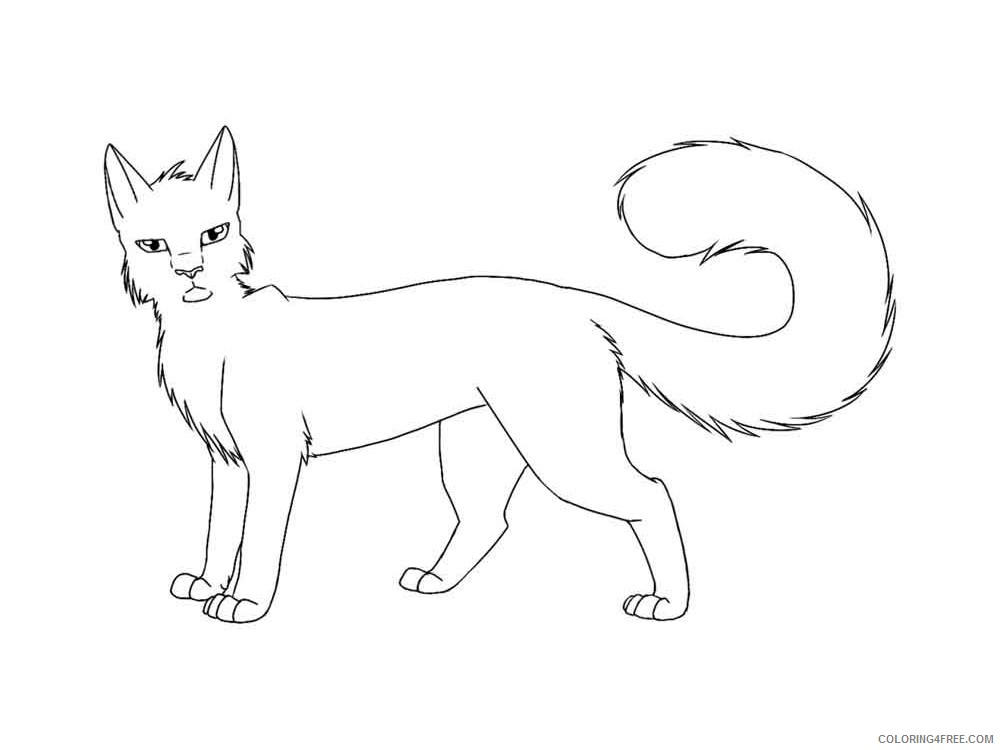 Warrior Cats Coloring Pages Cartoons Warrior Cats 3 Printable 2020 6897 Coloring4free