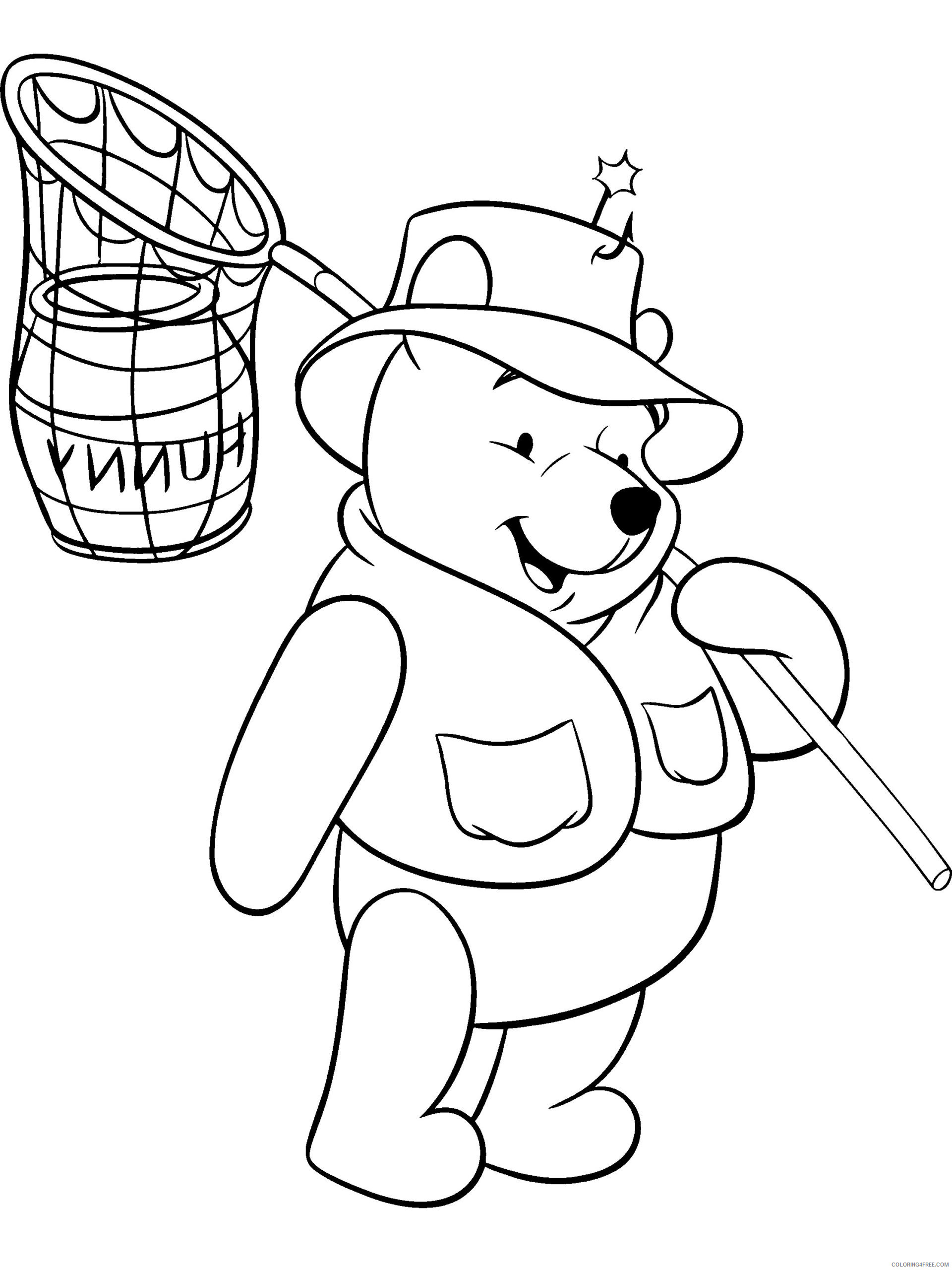 Winnie The Pooh Coloring Pages Cartoons Free Winnie The Pooh For Kids Printable 2020 6962 Coloring4free Coloring4free Com