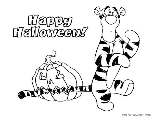 Happy Halloween 2020 Printable Winnie the Pooh Coloring Pages Cartoons Happy Halloween with