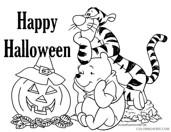 - Winnie The Pooh Coloring Pages Cartoons Tigger And Winnie Celebrate  Halloween Printable 2020 7020 Coloring4free - Coloring4Free.com