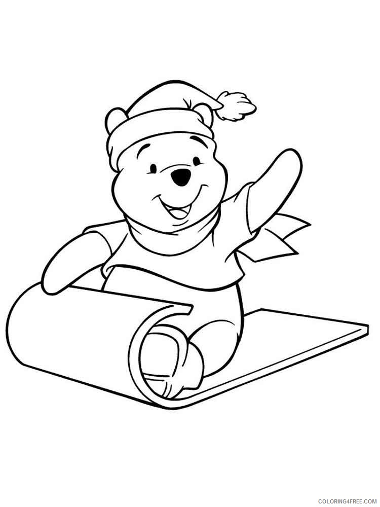 Winnie The Pooh Coloring Pages Cartoons Pooh Bear 11 Printable 2020 6979  Coloring4free - Coloring4Free.com
