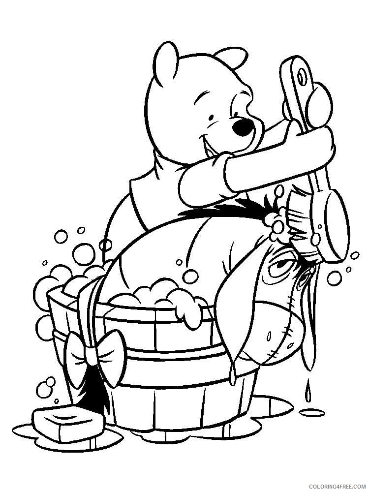 Winnie The Pooh Coloring Pages Cartoons Pooh Bear 16 Printable 2020 6981  Coloring4free - Coloring4Free.com