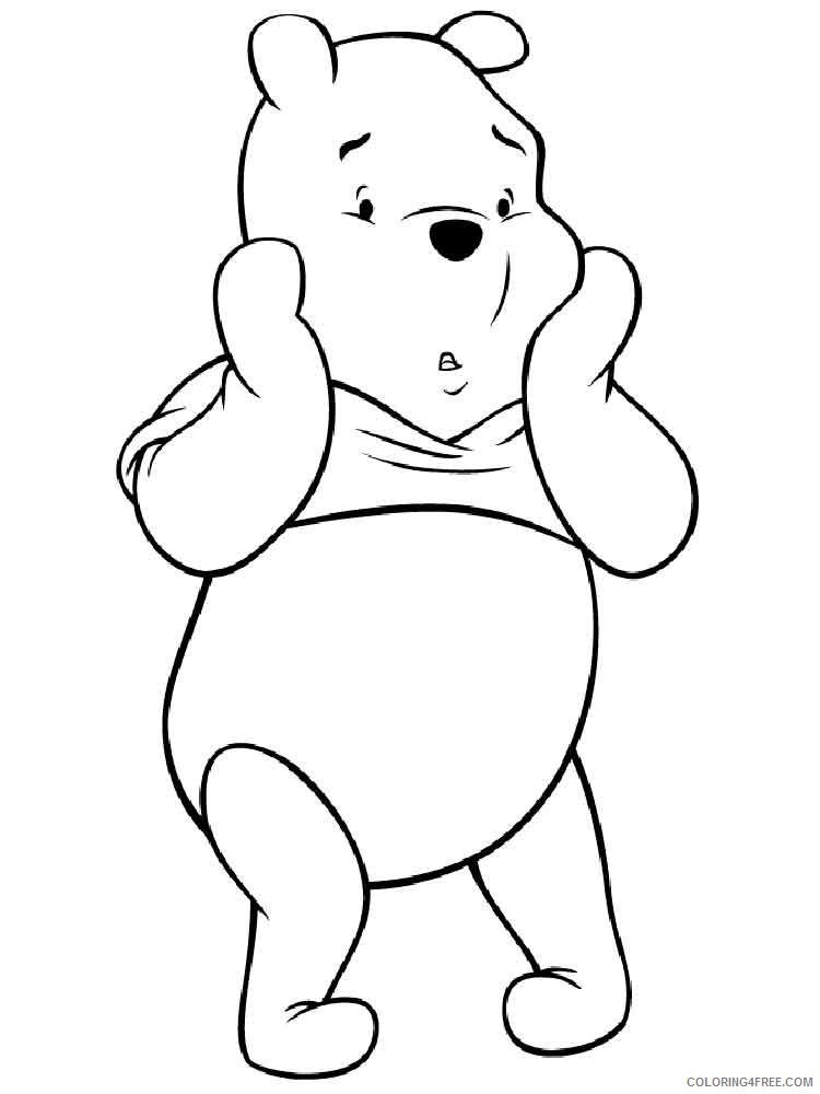 - Winnie The Pooh Coloring Pages Cartoons Pooh Bear 17 Printable 2020 6982  Coloring4free - Coloring4Free.com