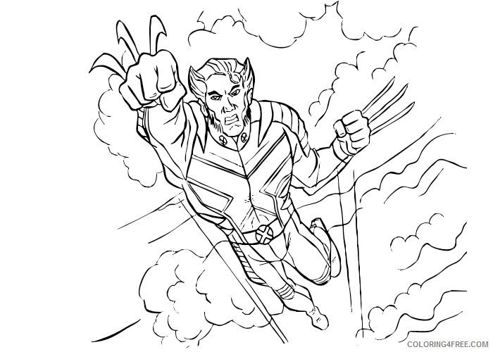 X Men Coloring Pages Superheroes Printable 2020 Coloring4free Coloring4free Com