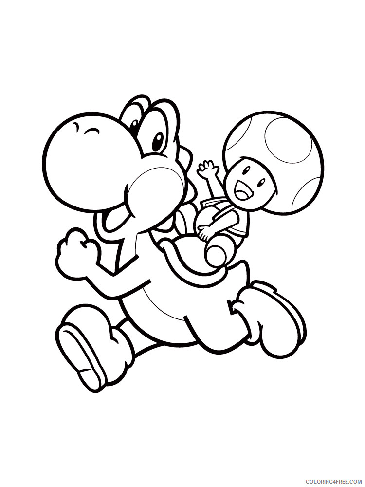 - Yoshi Coloring Pages Cartoons Yoshi 1 Printable 2020 7318 Coloring4free -  Coloring4Free.com