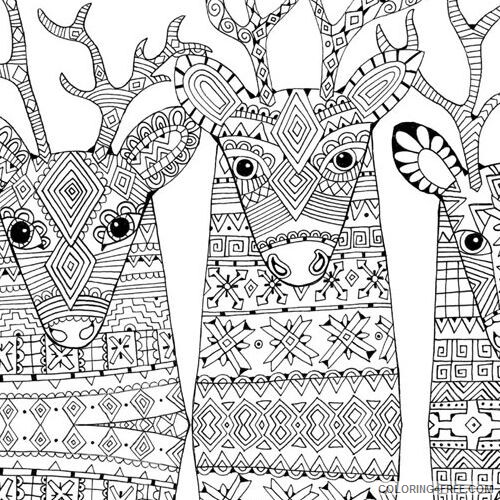 Adult Christmas Coloring Pages Zendeer Christmas For Adults Printable 2020  133 Coloring4free - Coloring4Free.com