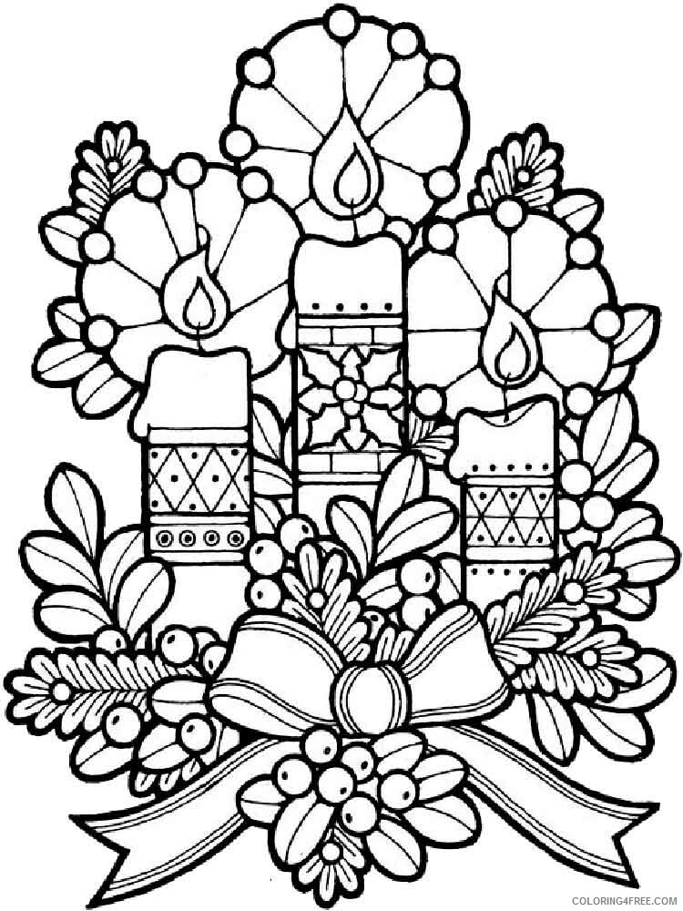 Adult Christmas Coloring Pages Adult Christmas 5 Printable 2020 115 Coloring4free Coloring4free Com