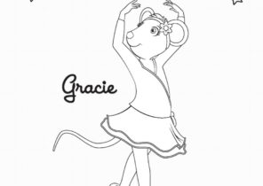 Angelina Ballerina Coloring Pages Coloring4free Com