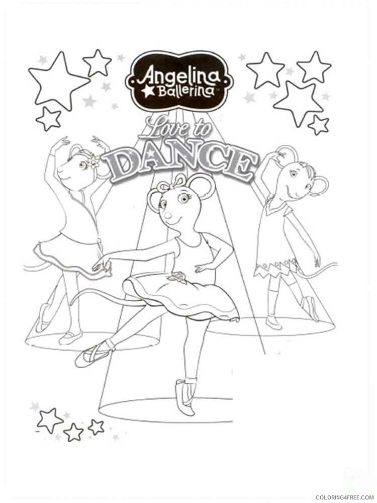 Angelina Ballerina Coloring Pages Tv Film Angelina Ballerina 14 Printable 2020 00132 Coloring4free Coloring4free Com