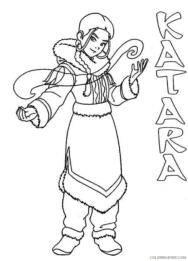 Avatar The Last Airbender Coloring Pages Tv Film Katara Printable 2020 00331 Coloring4free Coloring4free Com