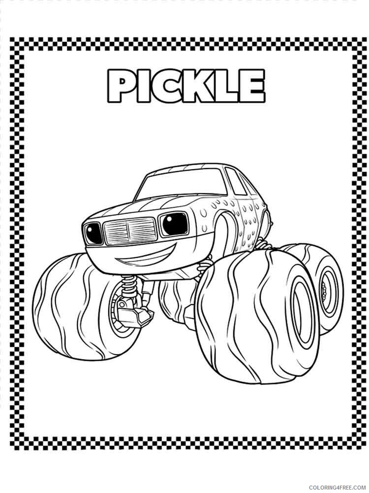 Blaze And The Monster Machines Coloring Pages Tv Film Printable 2020 00839 Coloring4free Coloring4free Com
