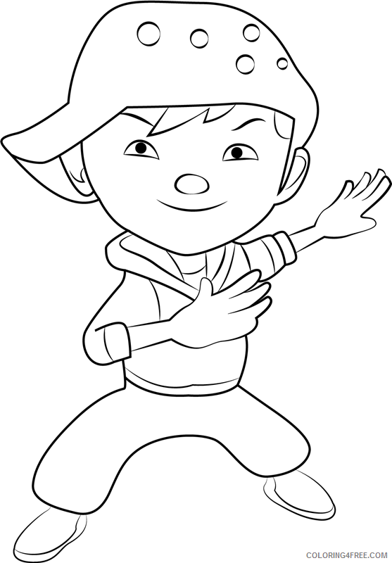 BoBoiBoy Coloring Pages TV Film wind Printable 2020 01154 Coloring4free