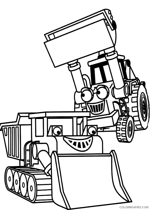 Bob the Builder Coloring Pages TV Film Bulldozer in Bob the Builder Printable 2020 01136 Coloring4free