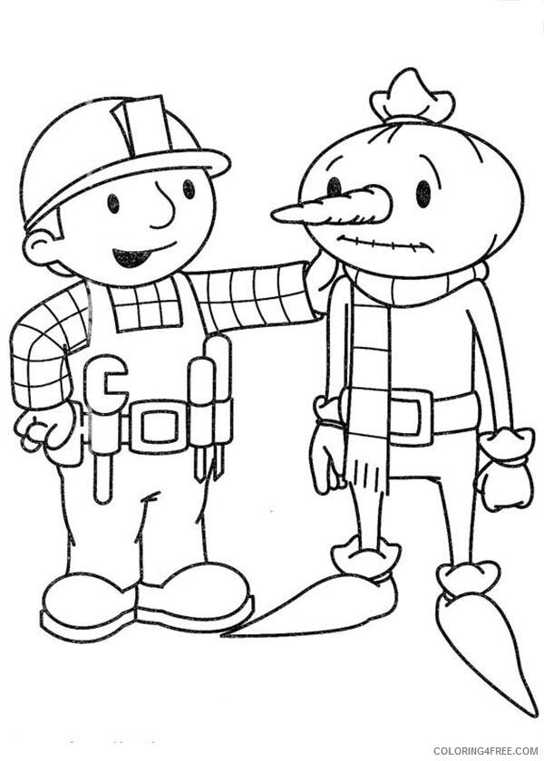 Bob the Builder Coloring Pages TV Film Cheer Spud Up Printable 2020 00995 Coloring4free