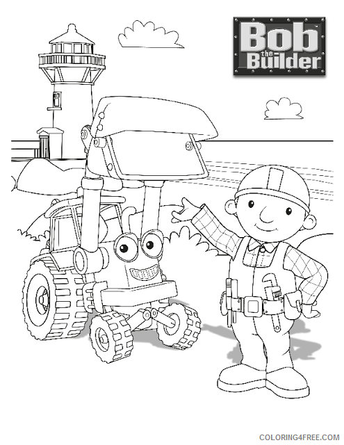 Bob the Builder Coloring Pages TV Film Image of Bob The Builder Printable 2020 01141 Coloring4free