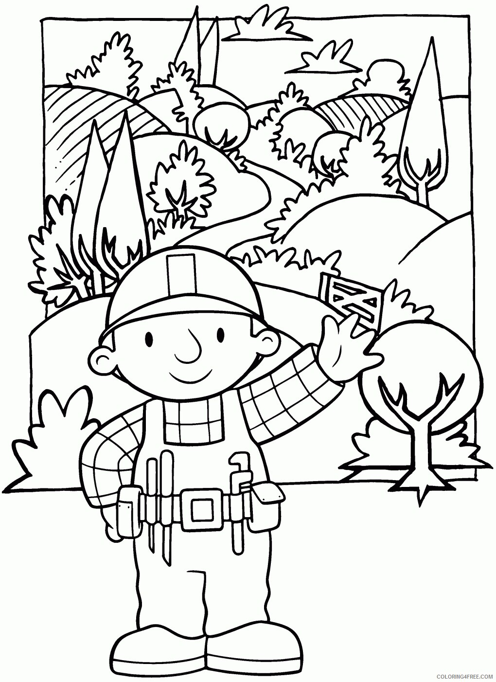 Bob the Builder Coloring Pages TV Film Kids Bob The Builder Printable 2020 01142 Coloring4free