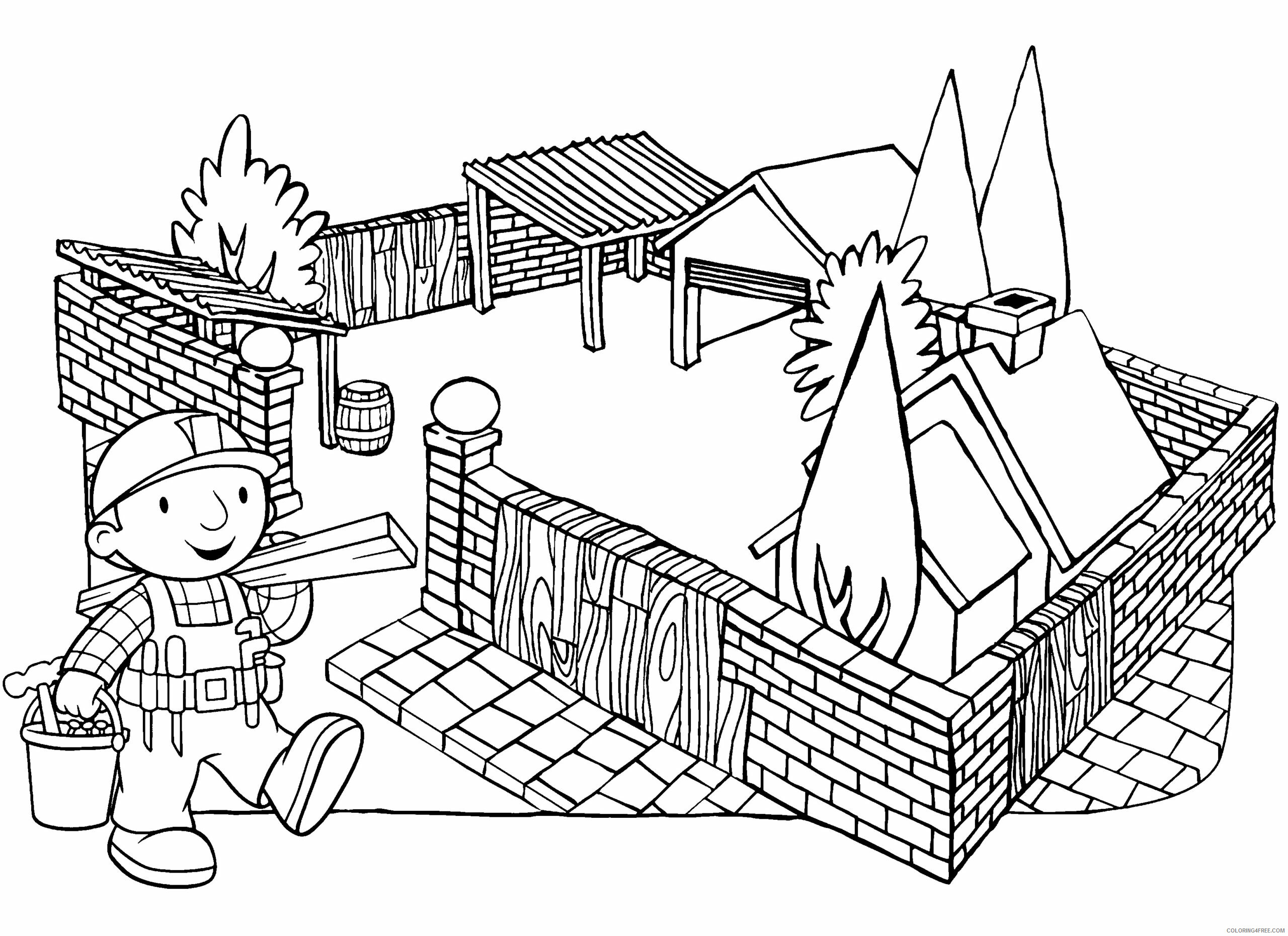 Bob the Builder Coloring Pages TV Film bob the builder 49 Printable 2020 01068 Coloring4free