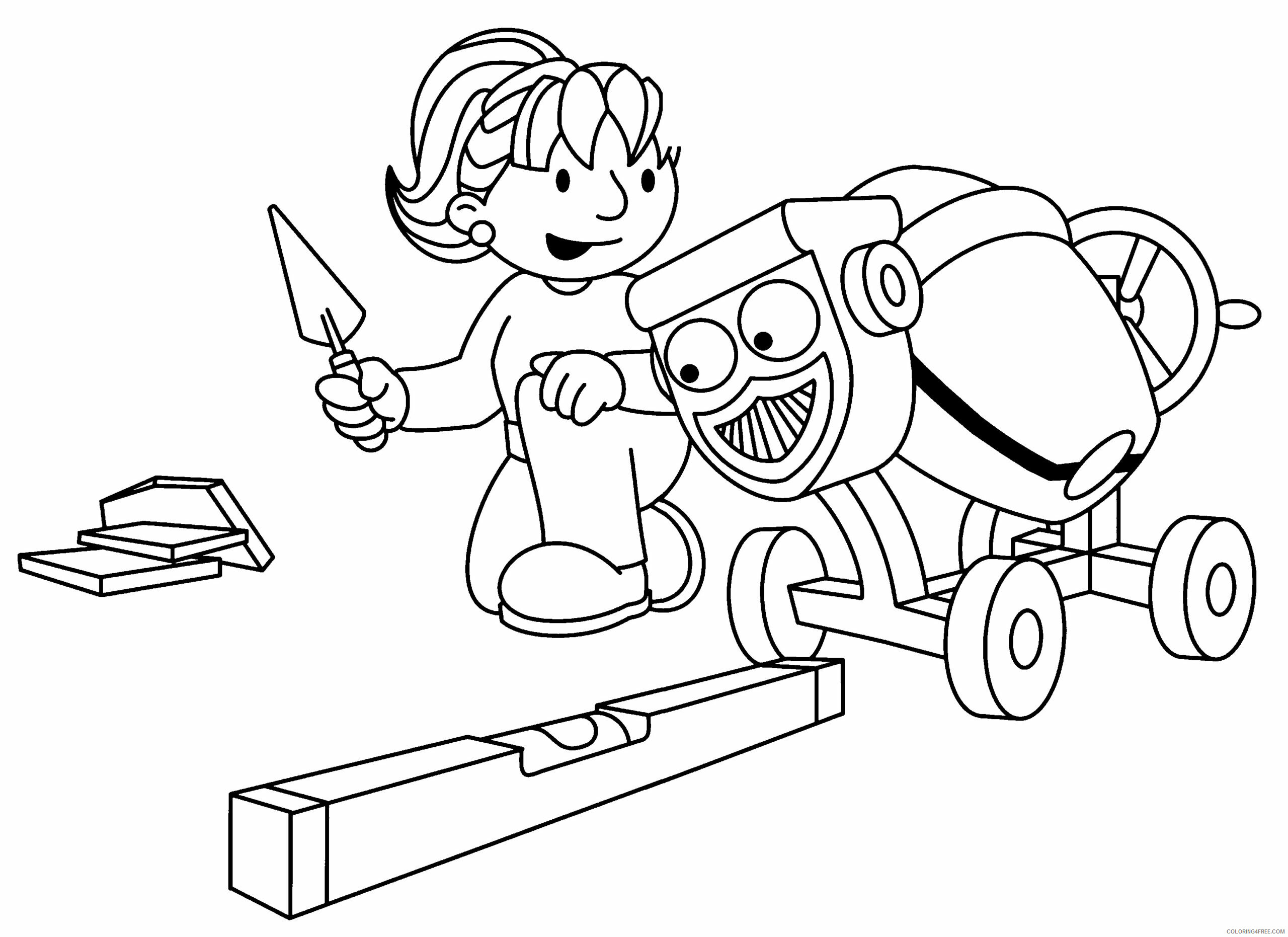 Bob the Builder Coloring Pages TV Film bob the builder 64 Printable 2020 01086 Coloring4free