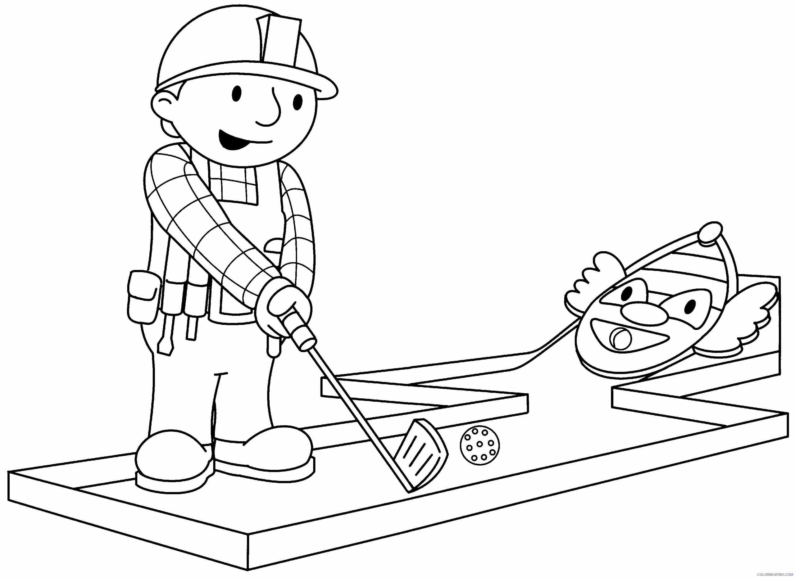 Bob the Builder Coloring Pages TV Film bob the builder 72 Printable 2020 01094 Coloring4free