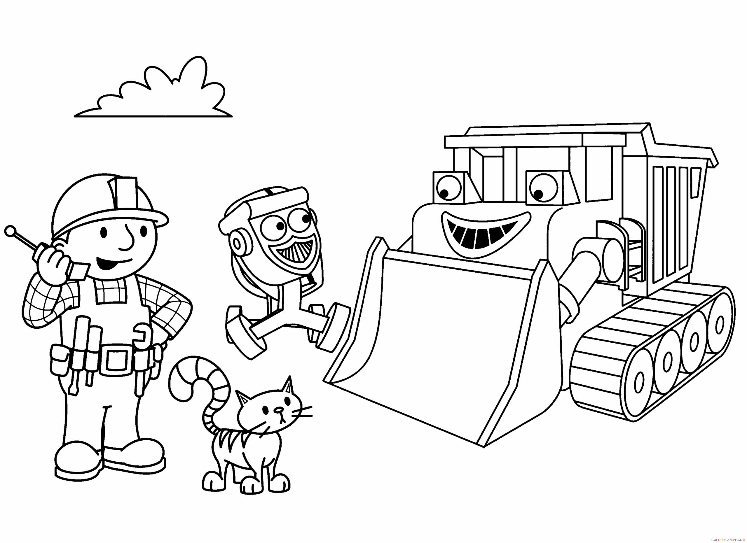 Bob the Builder Coloring Pages TV Film bob the builder 75 Printable 2020 01096 Coloring4free