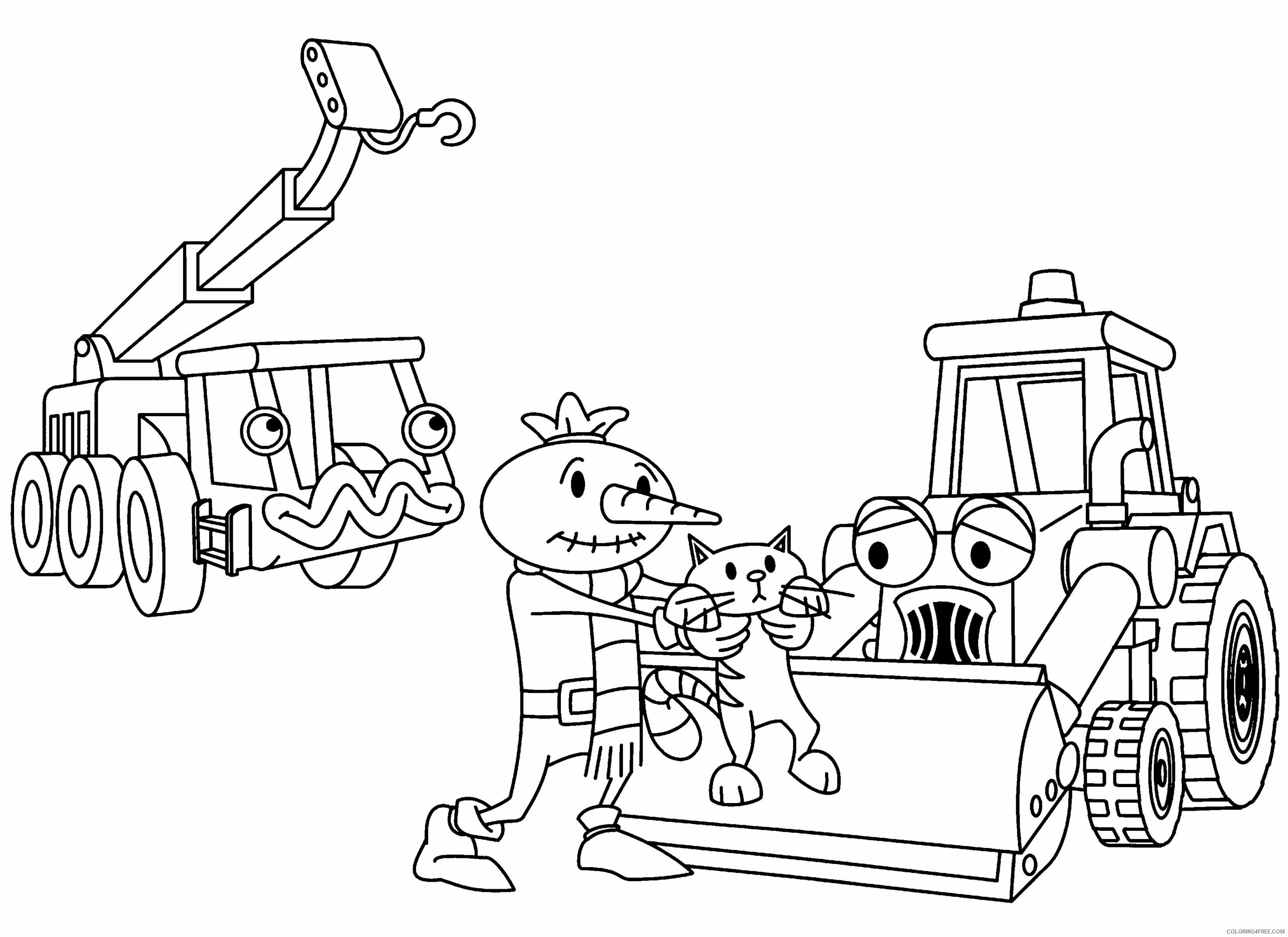 Bob the Builder Coloring Pages TV Film bob the builder 78 Printable 2020 01099 Coloring4free