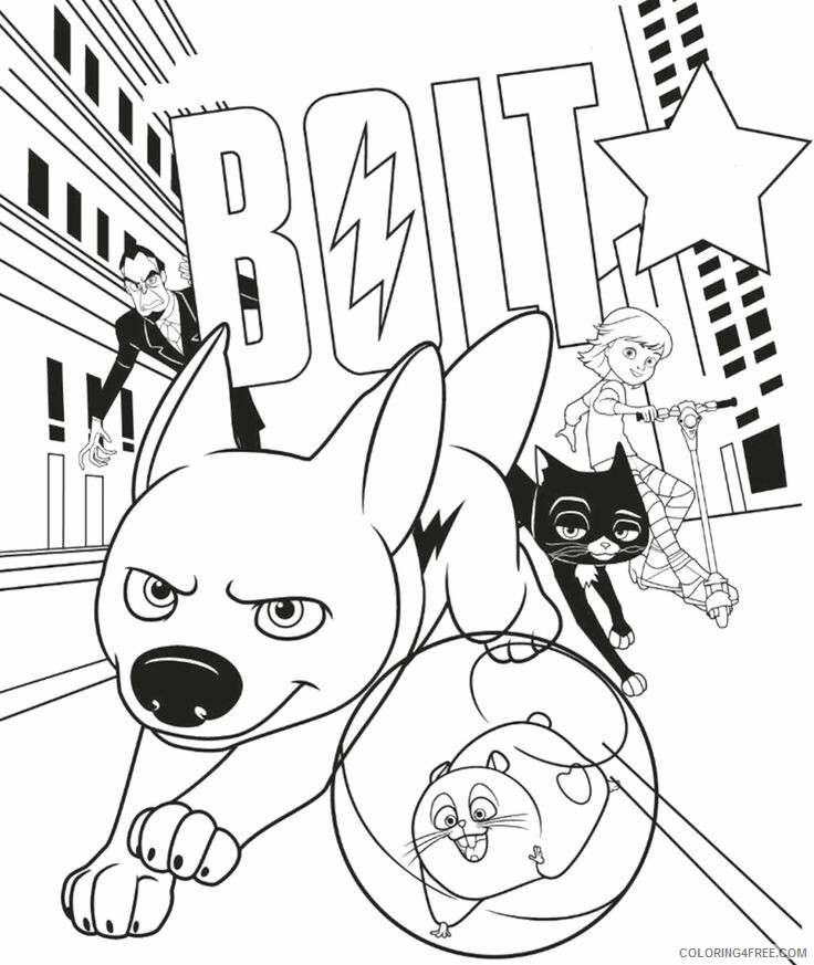 Bolt Coloring Pages TV Film Bolt Movie Printable 2020 01236 Coloring4free