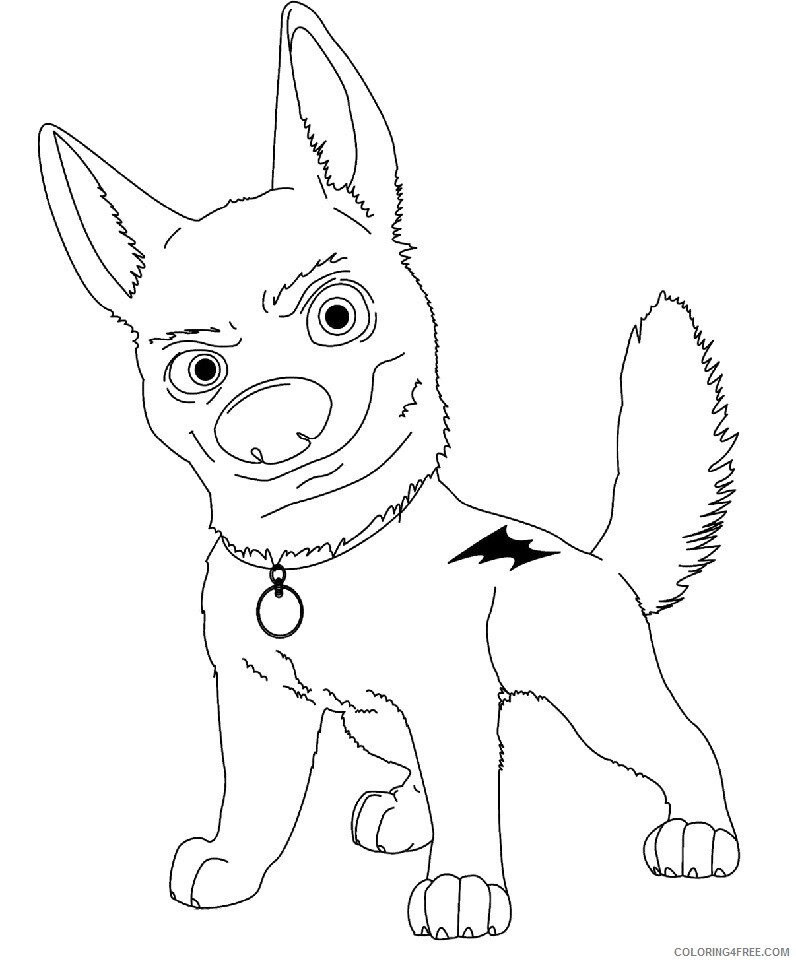 Bolt Coloring Pages TV Film Bolt Printable 2020 01218 Coloring4free