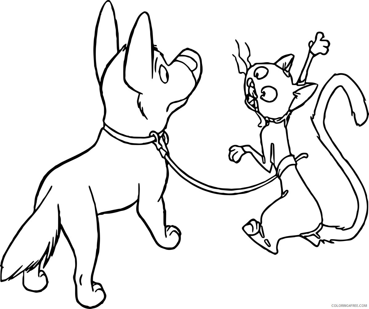 Bolt Coloring Pages TV Film Bolt and Mittens Printable 2020 01194 Coloring4free