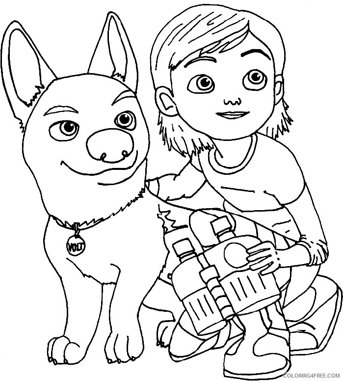 Bolt Coloring Pages TV Film Bolt and Penny Printable 2020 01197 Coloring4free
