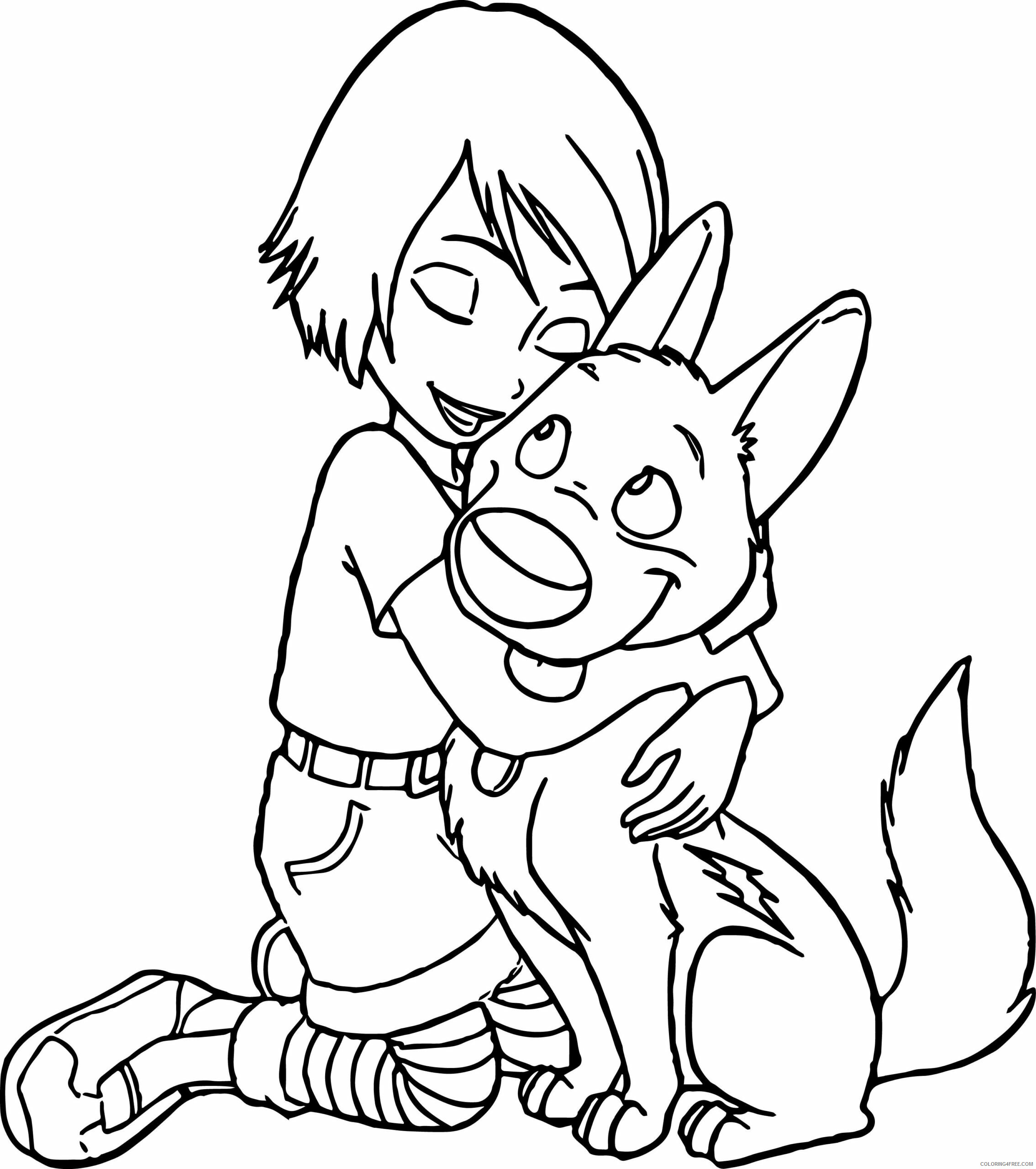 Bolt Coloring Pages TV Film Penny and Bolt Printable 2020 01246 Coloring4free
