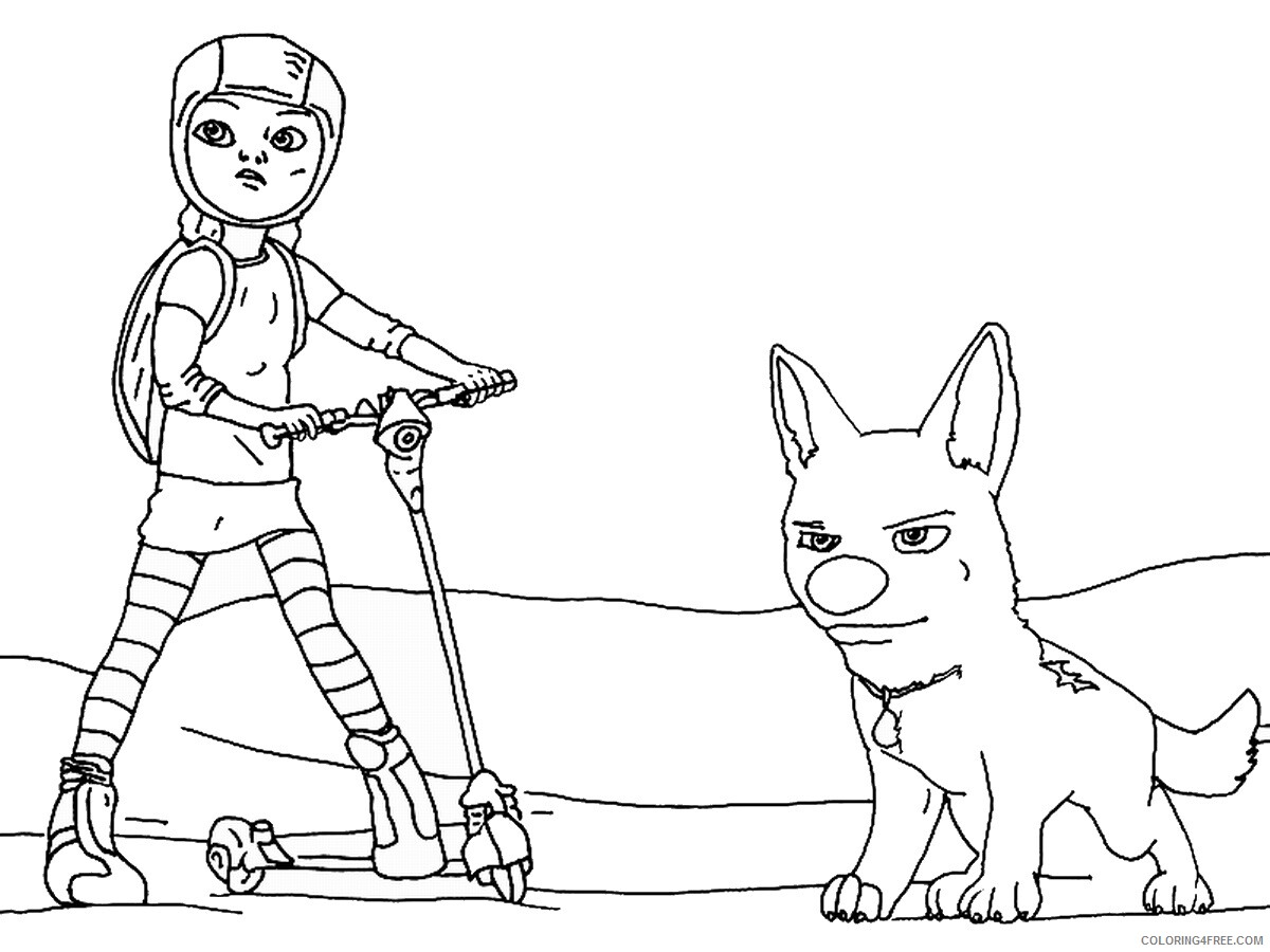 Bolt Coloring Pages TV Film bolt_cl_02 Printable 2020 01163 Coloring4free