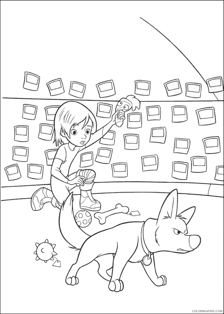 Bolt Coloring Pages TV Film bolt_cl_05 Printable 2020 01166 Coloring4free