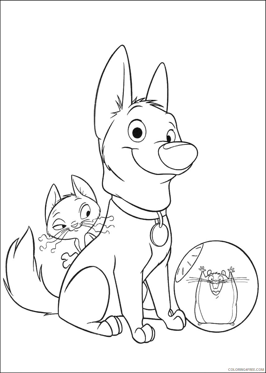 Bolt Coloring Pages TV Film bolt_cl_08 Printable 2020 01169 Coloring4free